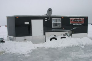 Mille lacs lake ice fishing house rentals ice fishing for Used fish houses for sale mn