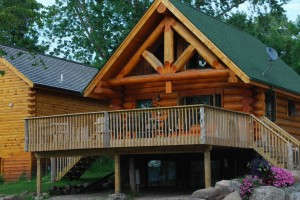 Mille Lacs Lake Log Cabin Rental