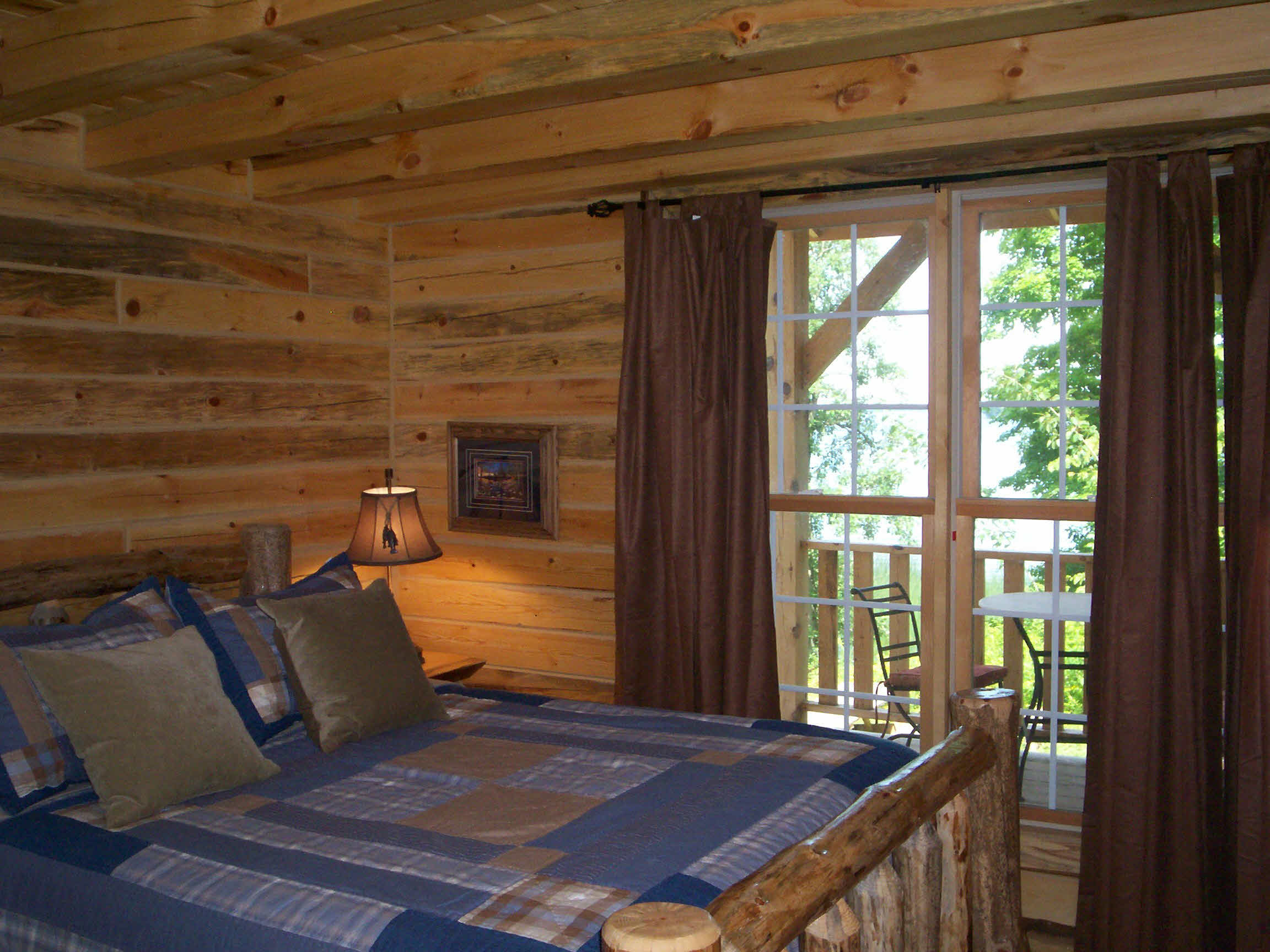 Lakeside Log Bedroom