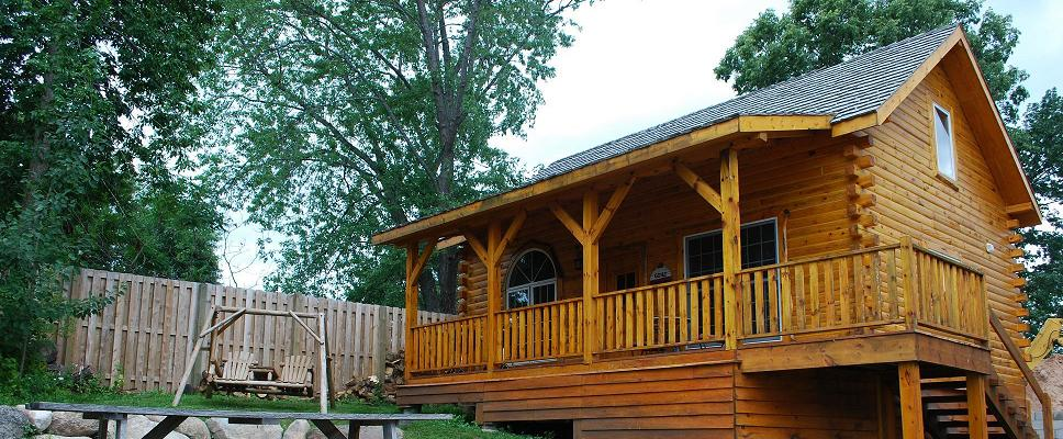Log Cabin Rentals on Mille Lacs Lake, Minnesota